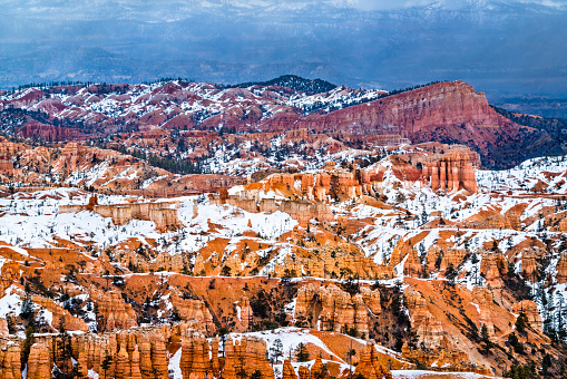 Bryce Canyon in winter - Utah, the United States
