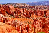 View over the the beautiful hoodoos of Bryce Canyon National Park, USA