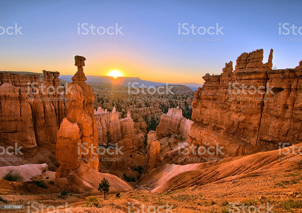 Bryce Canyon Sunrise stock photo