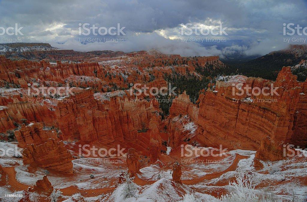 Bryce Canyon, Winter stock photo