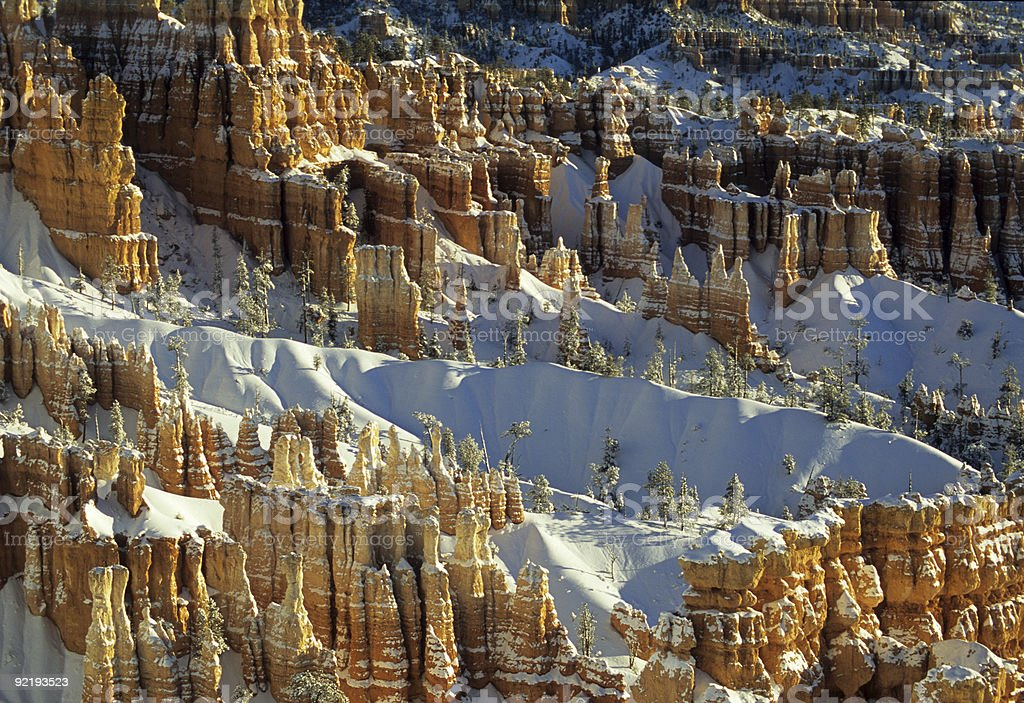 Bryce in Snow royalty-free stock photo