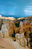 Bryce Rock Formation and Storm Utah USA
