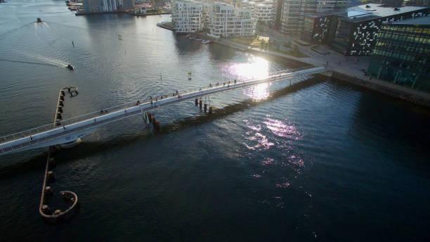 bryggebroen i köpenhamn - drone copenhagen bildbanksfoton och bilder