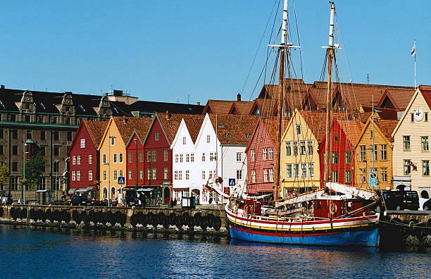 Bryggen - Bergen, Norway stock photo