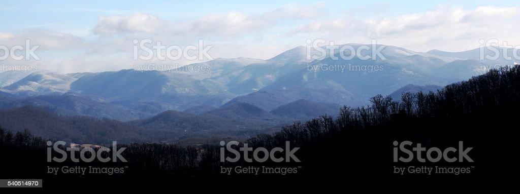Bryson City Mountains stock photo