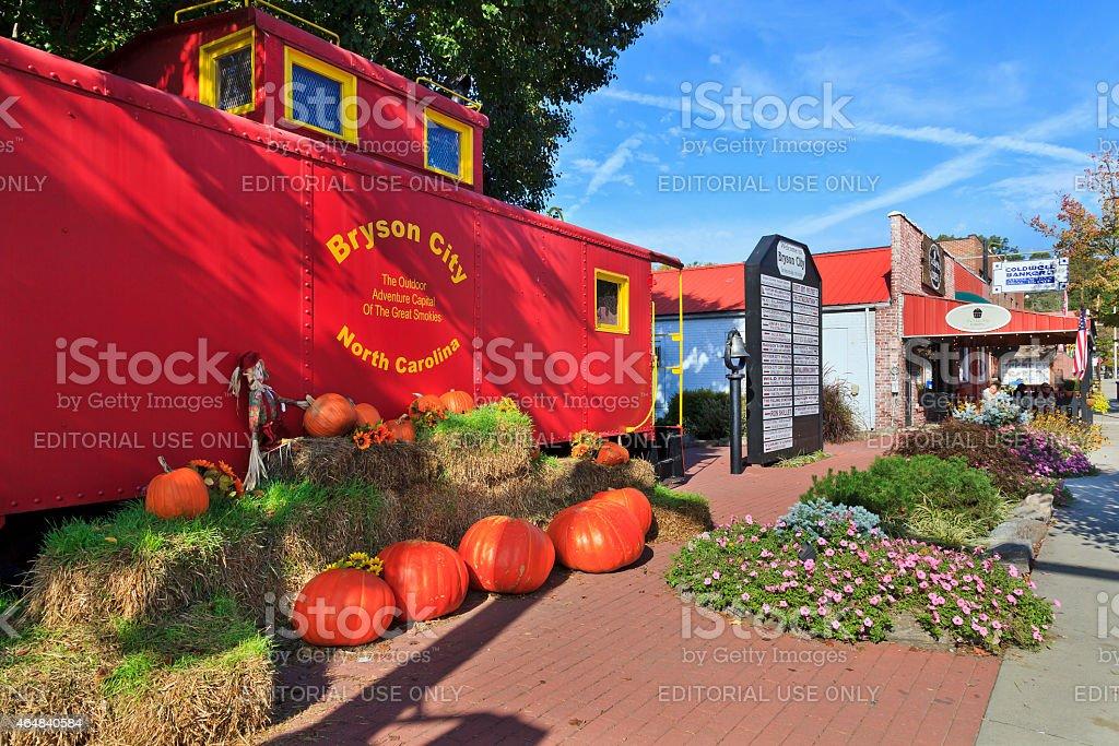 Bryson City, North Carolina stock photo