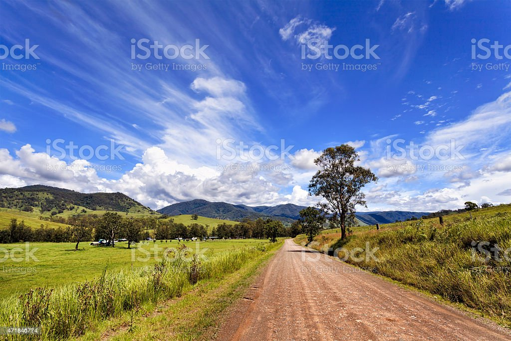 BTOps Cobark road stock photo
