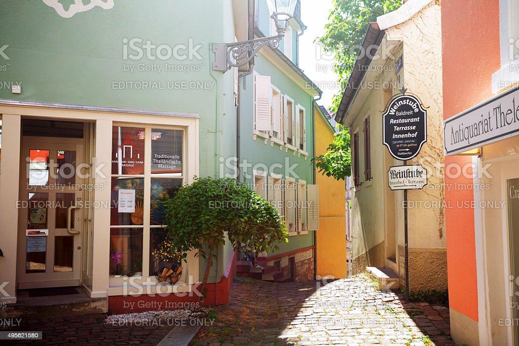 Büttenstraße in Altstadt of Baden-Baden stock photo