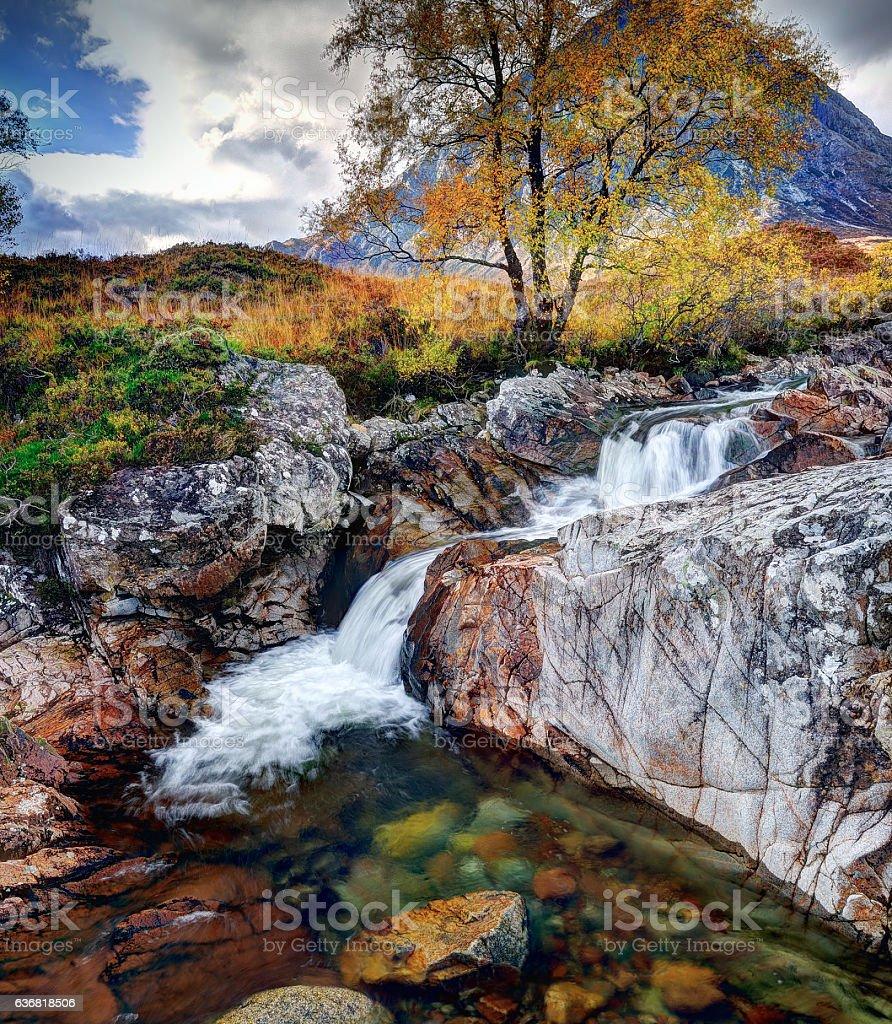 Buachialle Etive Mor, Glen Etive, Scotland stock photo