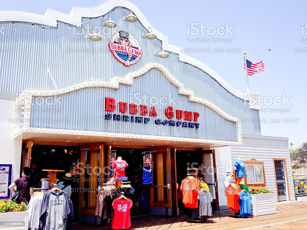 Bubba Gump Shrimp Company on Santa Monica Pier royalty-free stock photo