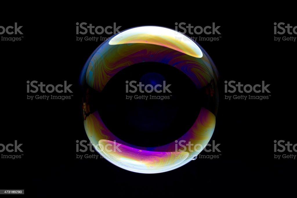 bubble against black stock photo