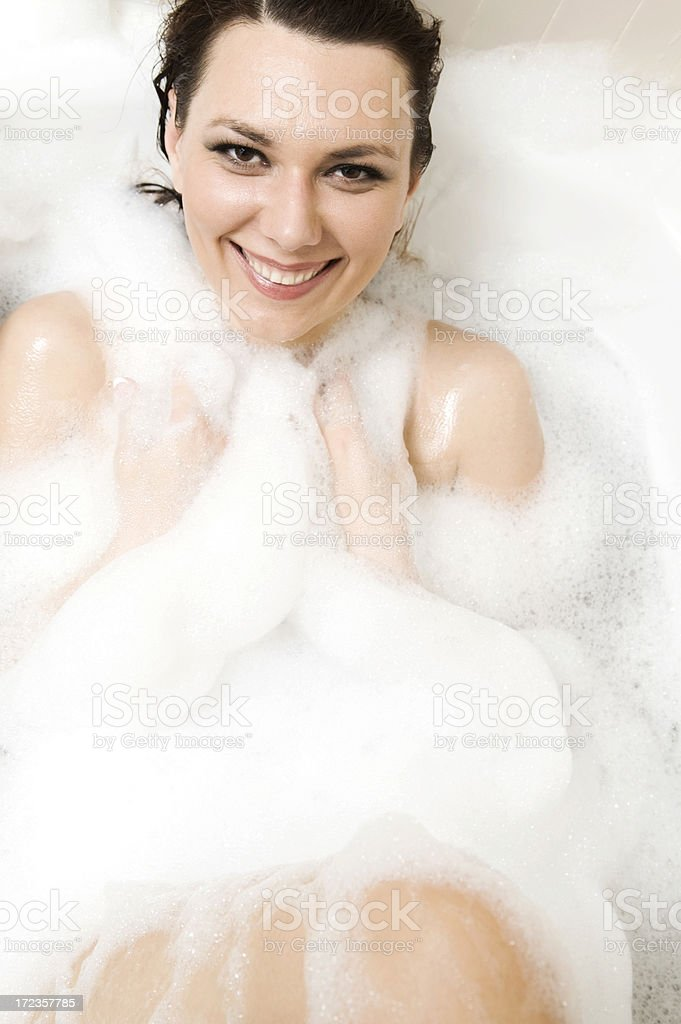 bubble bath smile royalty-free stock photo