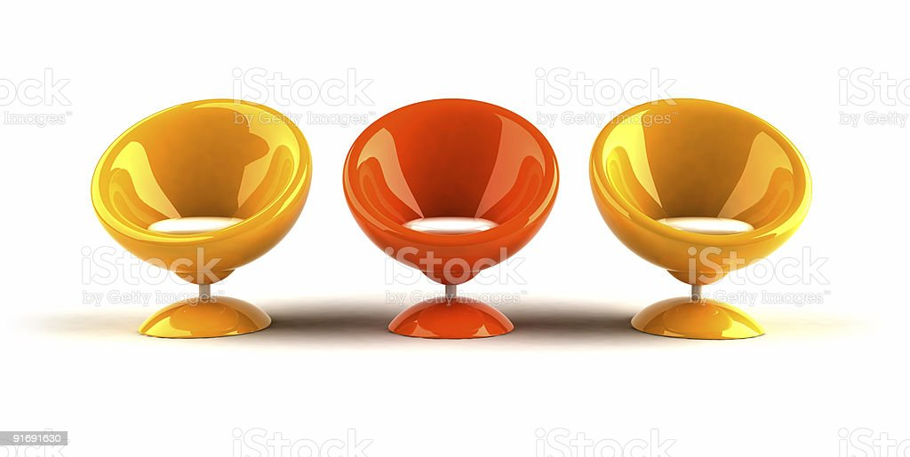 Bubble chairs royalty-free stock photo