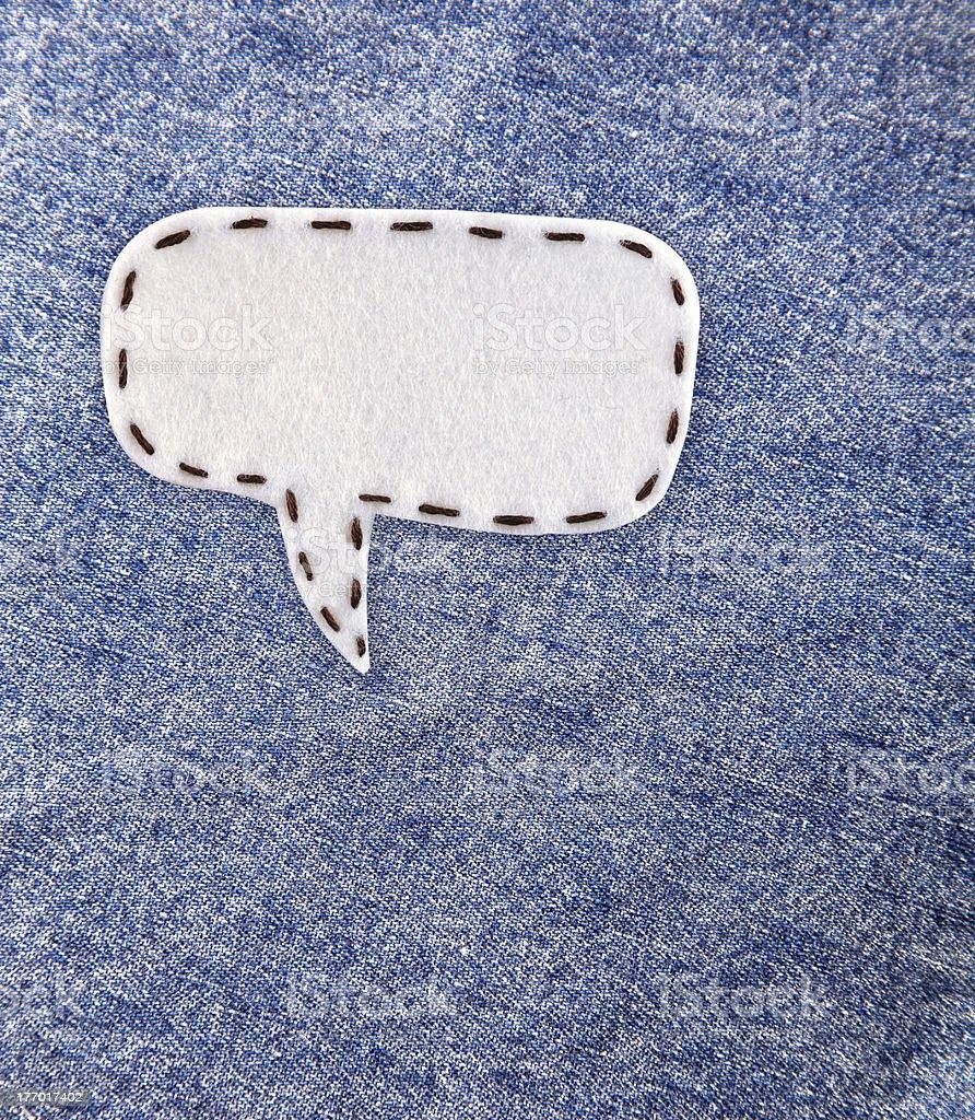 bubble fabric on Jean stock photo