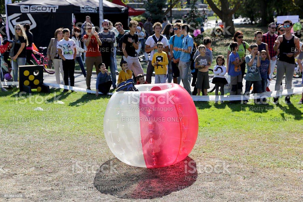 Bubble football game - foto de acervo