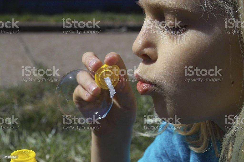 Bubble Girl royalty-free stock photo