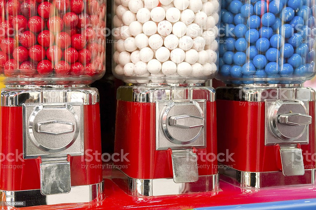 Bubble gum machine stock photo