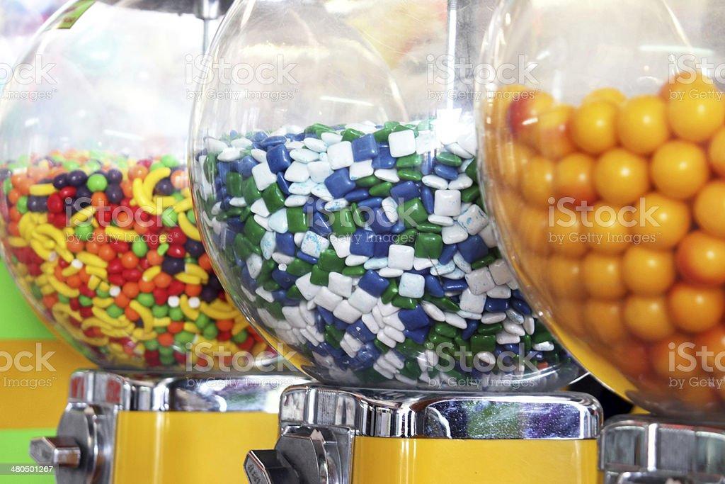 Bubble gum machines stock photo