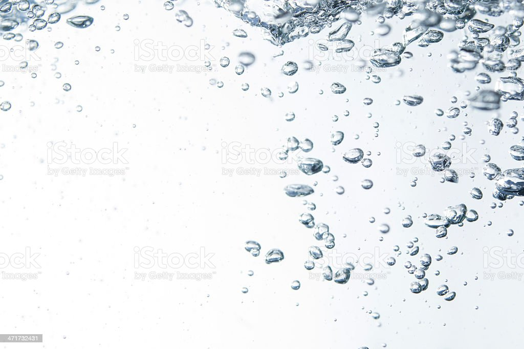 bubble in water royalty-free stock photo