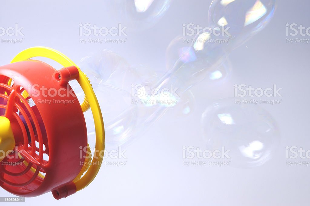 bubble machine stock photo