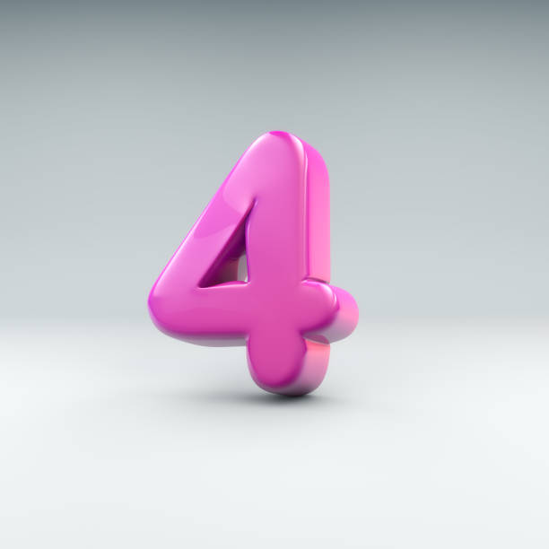 bubble number 4 bubble like 3D render of the number 4 day 4 stock pictures, royalty-free photos & images