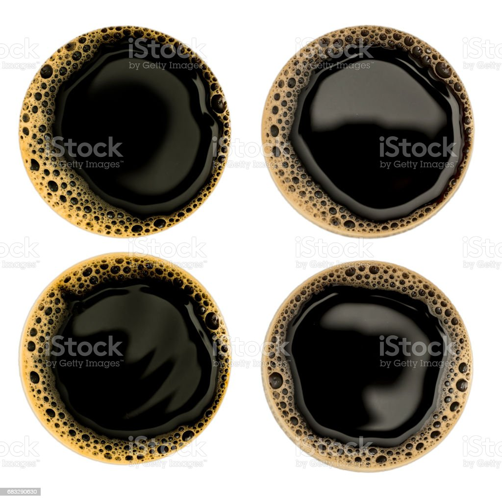 Bolha de café sobre fundo branco - foto de acervo