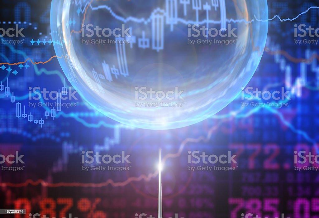 Bubble Bubble in the finance world 2015 Stock Photo