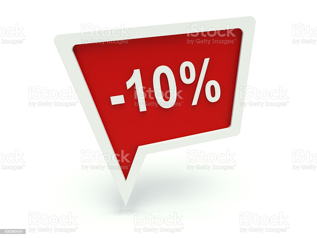 Bolha de discurso de propaganda de 10% - foto de acervo