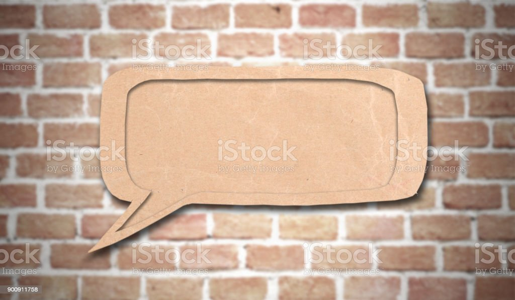 bubble speech made from paper stock photo