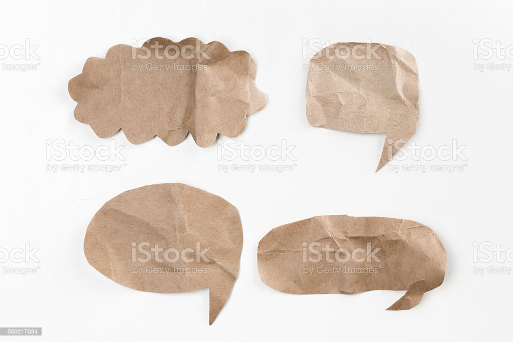 bubble speech shape stock photo