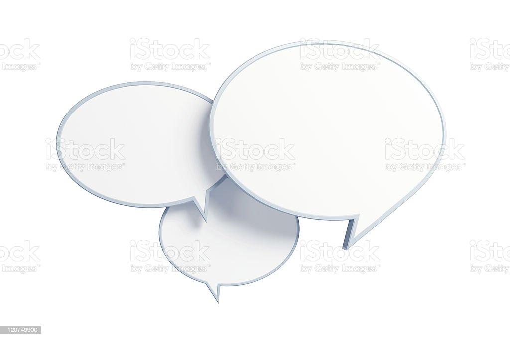 bubble talk 3d render stock photo