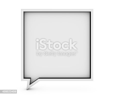 istock Bubble talk frame 3D 459520459