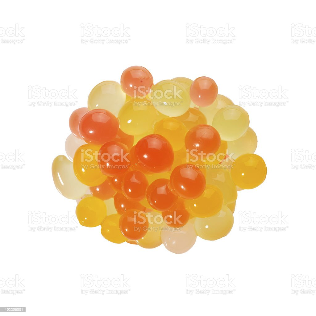 bubble tea toppings with mixed flavour stock photo
