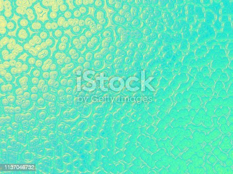Bubble Teal Mint Green Yellow Gold Shiny Crocodile Snake Dinosaur Dragon Reptile Leather Texture Abstract Bead Foam Background Luxury Texture Ombre Glittering Pattern Party Invitation Backdrop Retro Style Design Template Extreme Close Up Computer Graphic