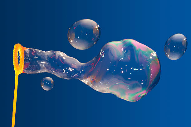 Bubble Wand and Big Bubbles stock photo