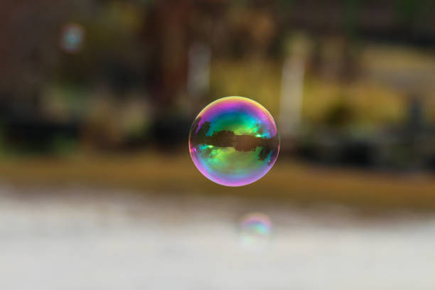 Bubble With Reflections stock photo