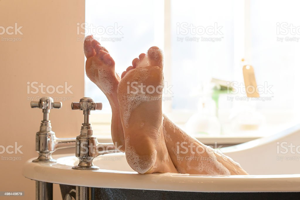 Bubblebath stock photo