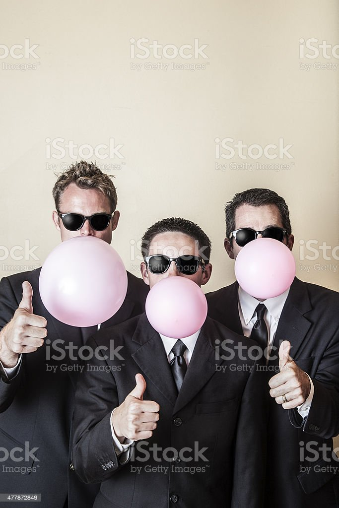 Bubblegum Businessmen Brigade royalty-free stock photo