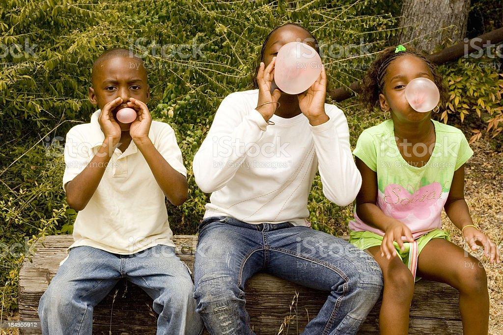bubblegum contest!!! stock photo