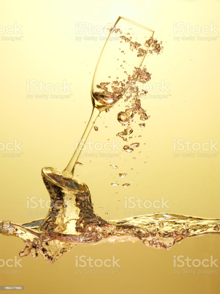 Bubbles and Champagne Glass royalty-free stock photo