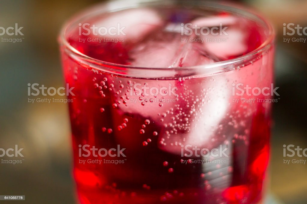 Bubbles and Cran stock photo