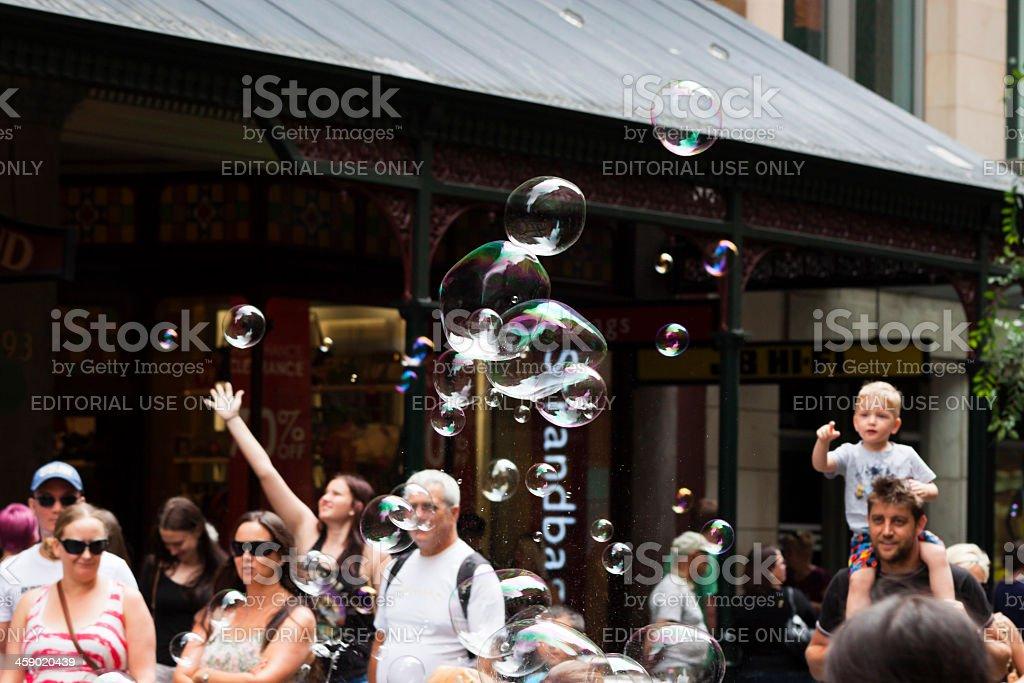 Bubbles and Joy royalty-free stock photo