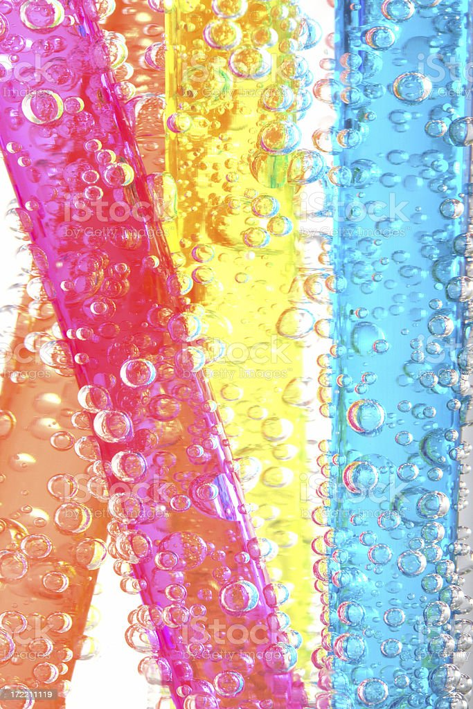 Bubbles and Straws royalty-free stock photo