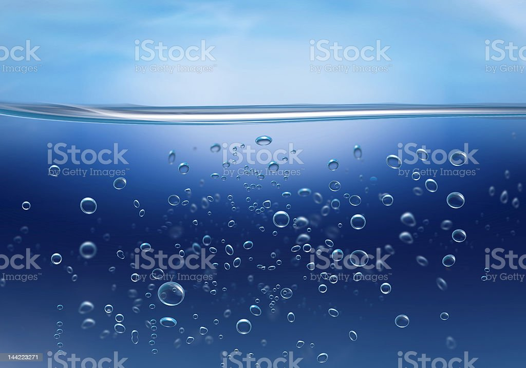 bubbles horizon 1 royalty-free stock photo