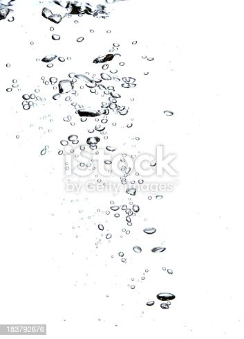 istock Bubbles in a diagonal shape on a white background 183792676