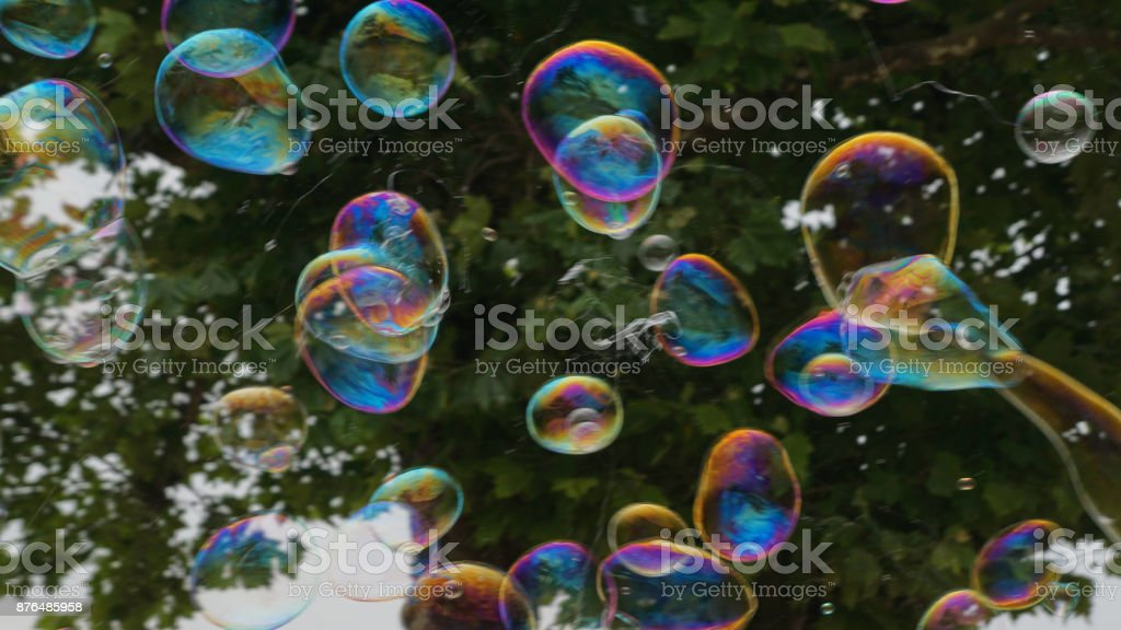 Bubbles in Flight 1 stock photo