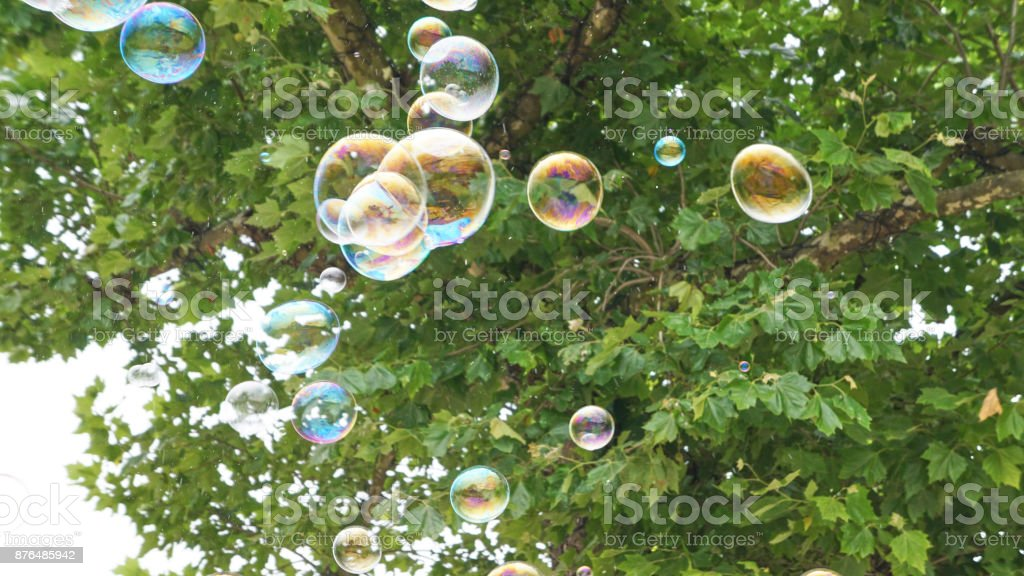 Bubbles in Flight 2 royalty-free stock photo