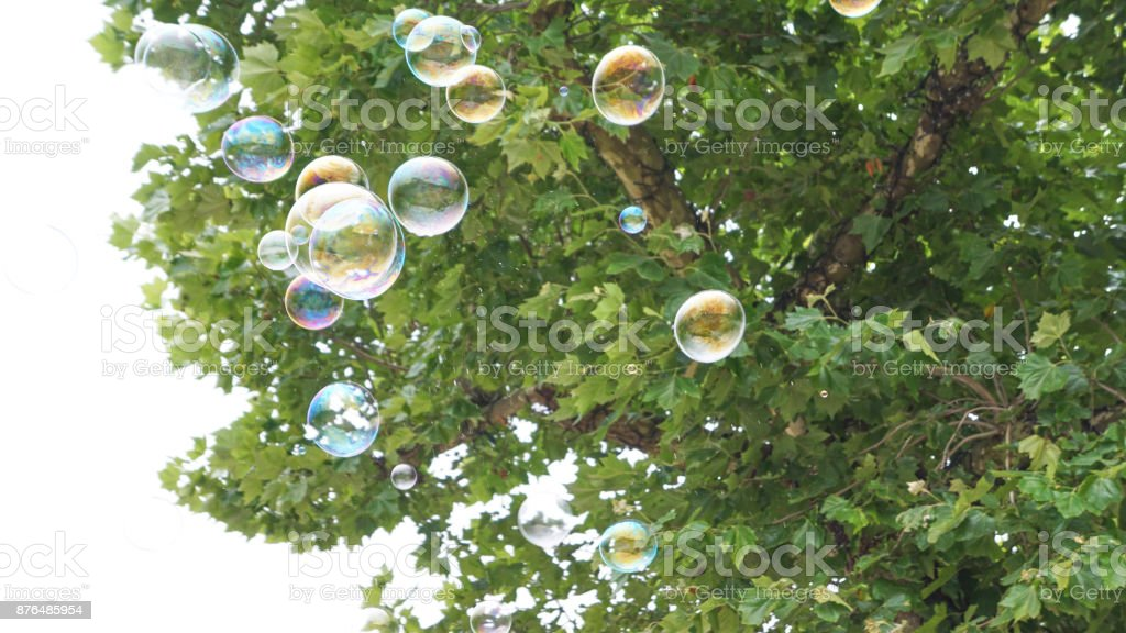 Bubbles in Flight 3 royalty-free stock photo