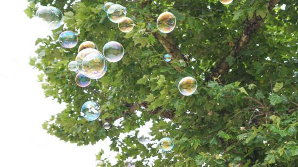 Bubbles in Flight 3 stock photo
