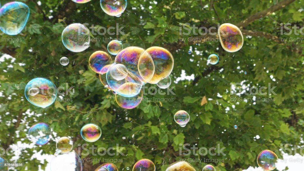 Bubbles in Flight 4 royalty-free stock photo
